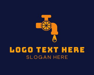 Faucet - Orange Tap  logo design