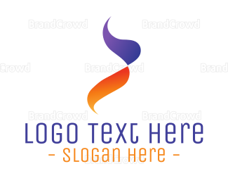Orange And Purple - Gradient Purple Orange Flame logo design