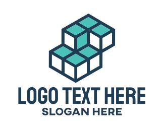 Blue Cubes logo design