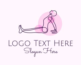 Healing - Minimalist Yoga Stretch logo design
