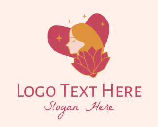Bath Products - Flower Heart Lady  logo design