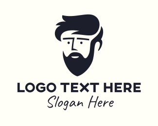 Dude - Bearded Teenager Guy logo design