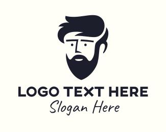 Bonnet - Bearded Teenager Guy logo design