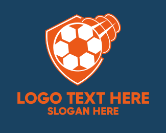 Soccer Team - Fast Soccer Ball Badge logo design