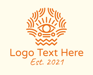 Pattern - Tribal Eye Pattern logo design