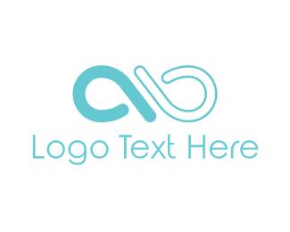 Number 9 - Blue Hoop logo design