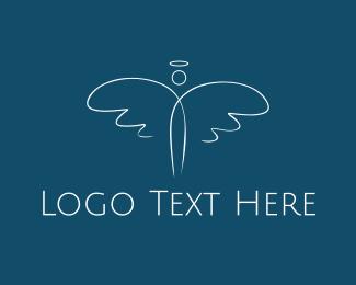 Heaven - White Angel logo design