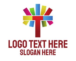 Parenting - Colorful Letter T logo design