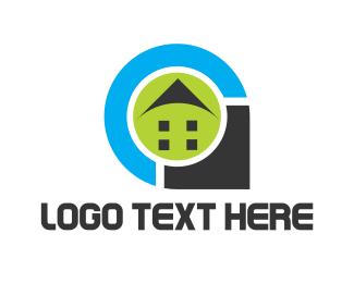 Gps - House Pin logo design