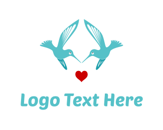 Wedding - Bird Love logo design