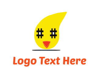 Slack - Chicken & Hashtag logo design