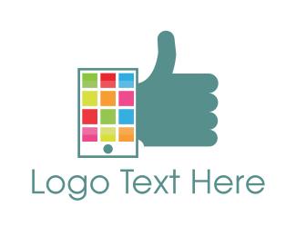 Online Learning - Phone Approval logo design