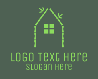 Bungalow - Bamboo Eco Home logo design