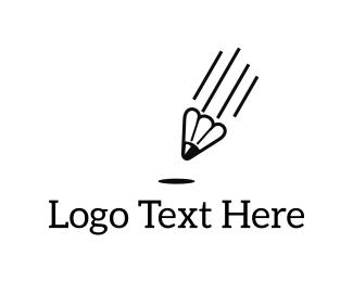 Parachute - Shuttlecock Pen logo design
