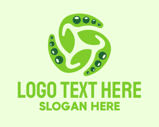 Pea - Green Fungi logo design