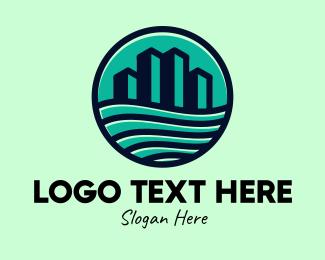 New York - Bay City Emblem logo design