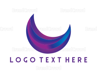 Blue And Purple - Purple Moon logo design