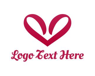 Girlfriend - Ribbon Heart  logo design