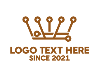 Sovereign - Bronze Crown Technology logo design