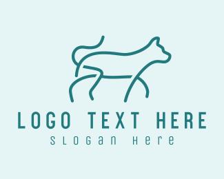 Walking - Walking Pet Cat  logo design