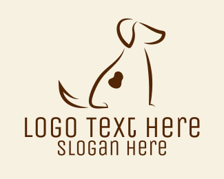 Dog Shelter - Spotted Brown Dog Silhouette logo design