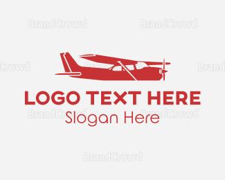 Flyer - Small Black Plane logo design