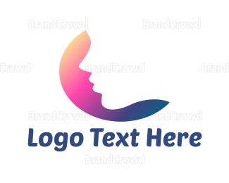 Hair And Beauty - Woman Face logo design
