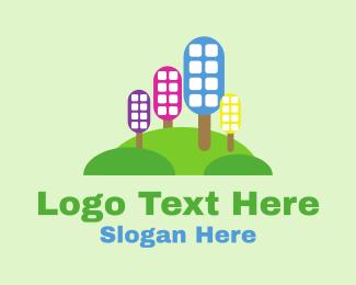 Orb - Eco City Skyline logo design