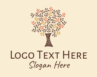 Bark - Autumn Tree Park logo design