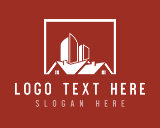 Red Building - Red Houses logo design