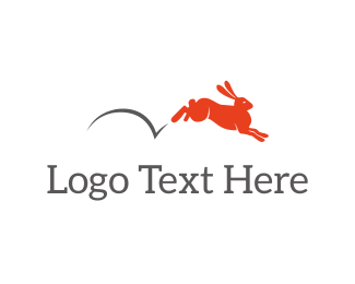 Hop - Red Bunny logo design