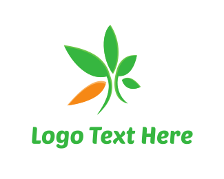 Sustainable - Eco Green Leaves logo design