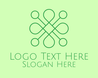 Beauty - Green Minimalist Monoline Shape logo design