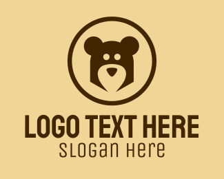 Cuddly - Abstract Bear Head logo design