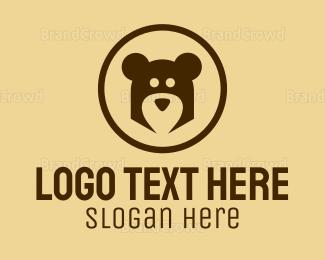 Teddy - Abstract Bear Head logo design