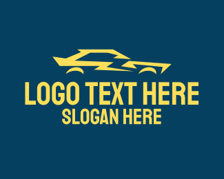 Car Club - Yellow Flash Car logo design