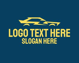 Flash - Yellow Flash Car logo design