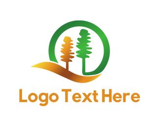 Wood - Golden Forest logo design