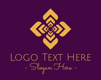 Arabian - Elegant Arabian Flower Pattern logo design
