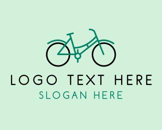 Exercise - Teal Retro Bike logo design