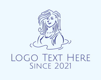 Swimming - Swimming Teacher Woman logo design