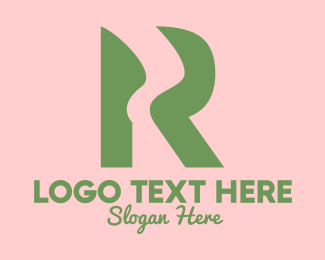 River - Green R River logo design