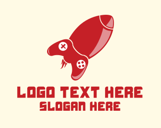 Remote - Red Rocket Games logo design