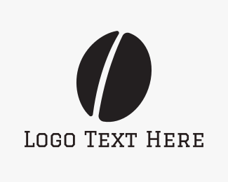 Coffee Bean - Black Coffee Bean logo design