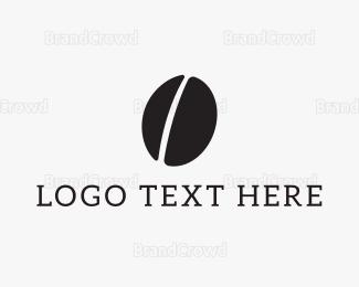 Barista - Black Coffee Bean logo design