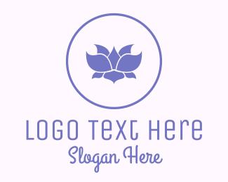 Purple Circle - Purple Lotus logo design
