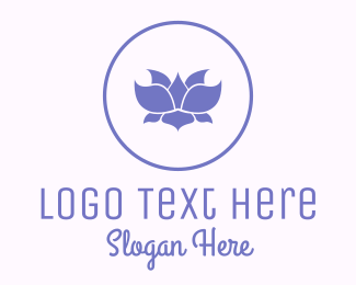 Makeup - Purple Lotus logo design