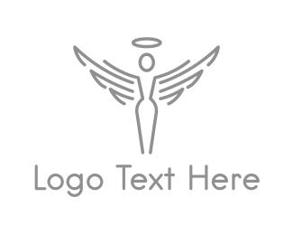 Cupid - Heaven Angel logo design