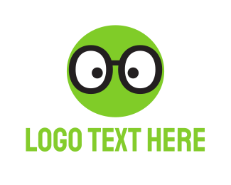 Cricket - Green Geek Glasses logo design