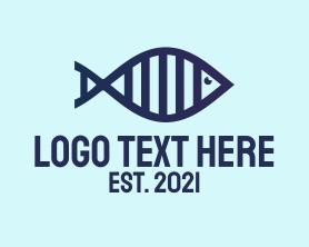 Medical - DNA Fish Outline logo design